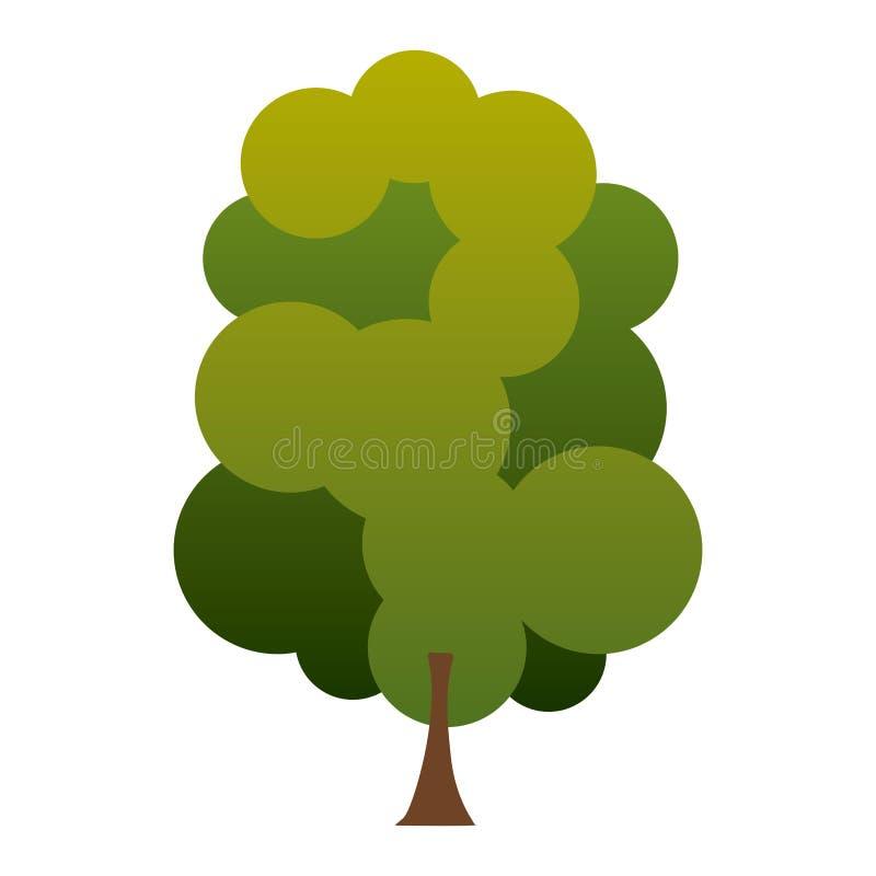 l'albero variopinto di verde della siluetta con vari corona va royalty illustrazione gratis