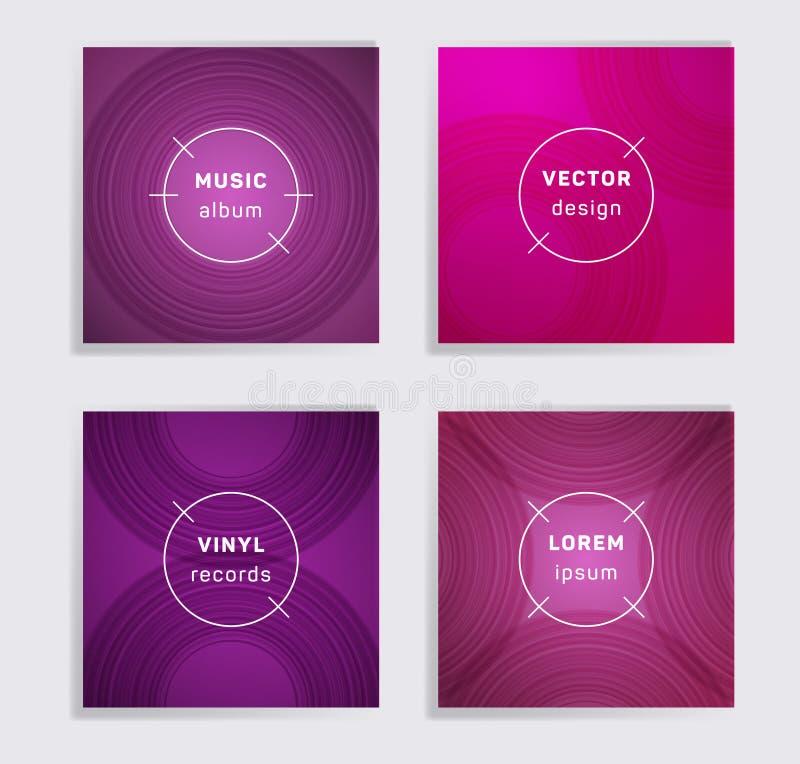 L'album abstrait de musique de disques vinyle couvre l'ensemble illustration libre de droits