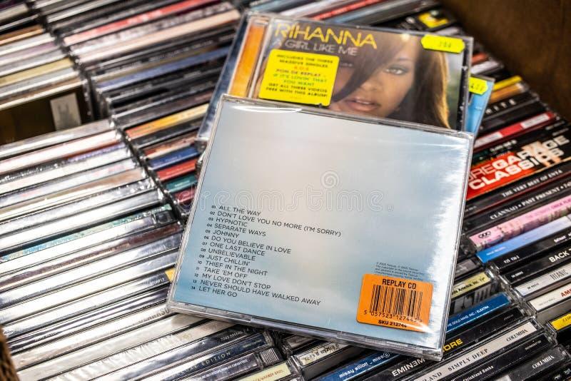 L'album de CD de Craig David l'histoire disparaît 2005 sur l'affichage à vendre, chanteur anglais célèbre, compositeur, frappeur photo libre de droits