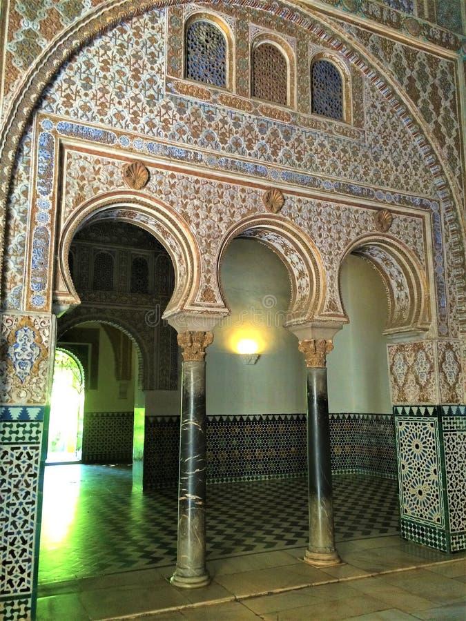 L'alcazar di Siviglia, Royal Palace fotografie stock