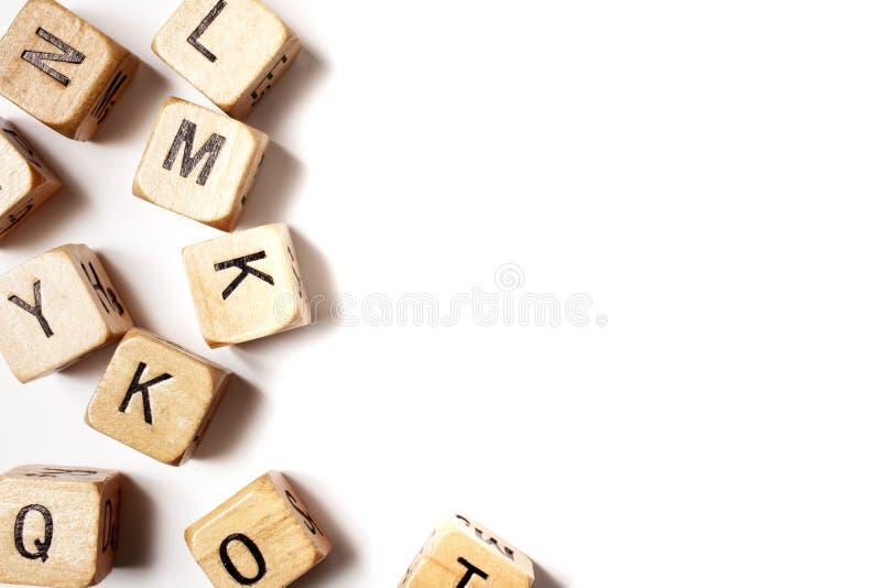 L'alfabeto casuale taglia fotografie stock libere da diritti