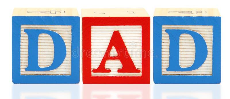 L'alfabeto ostruisce il PAPÀ immagine stock libera da diritti