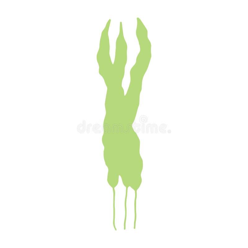 L'alga è immagine fatta a mano isolata sul vecto bianco del fondo royalty illustrazione gratis