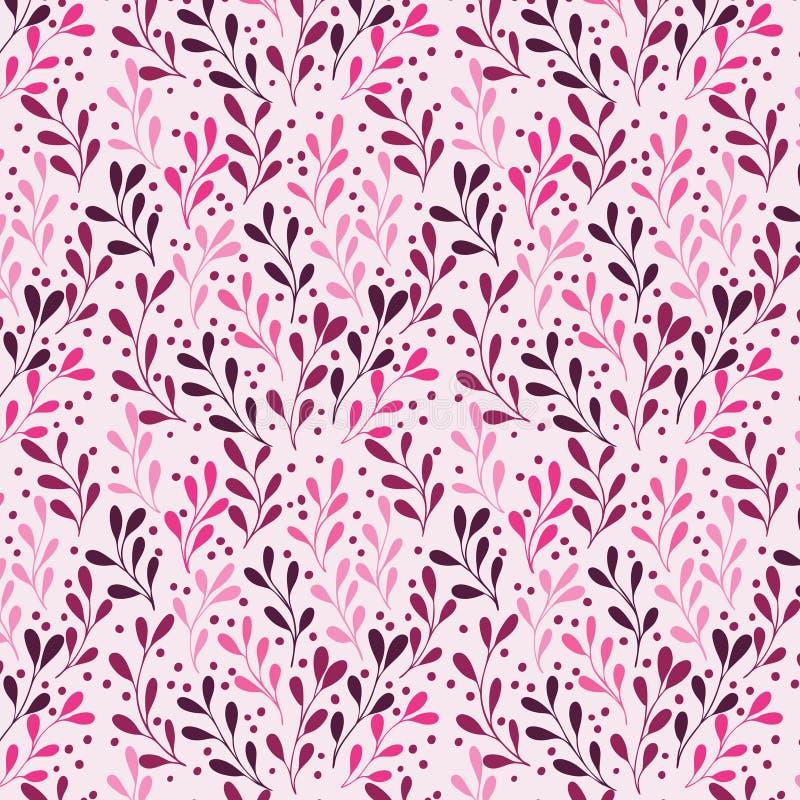 L'alga di rosa di Lili pianta il modello senza cuciture illustrazione vettoriale