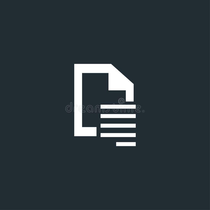 L'alignement des textes de document, côté droit alignent l'icône illustration de vecteur