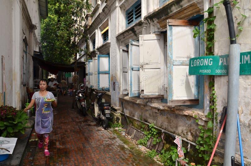 L'alimento è servito sulla via di Ipoh, Malesia fotografia stock libera da diritti