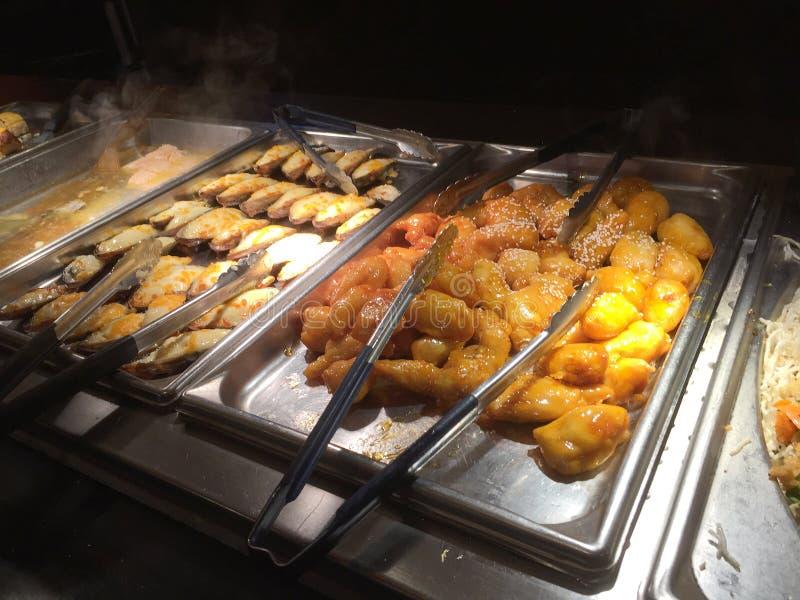 L'alimento delizioso per mangia al buffet TX U.S.A. dell'Asia immagine stock libera da diritti