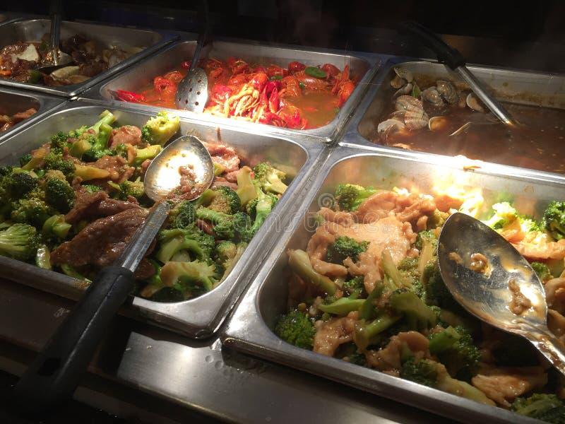 L'alimento dell'Asia per mangia a buffet TX U.S.A. fotografia stock
