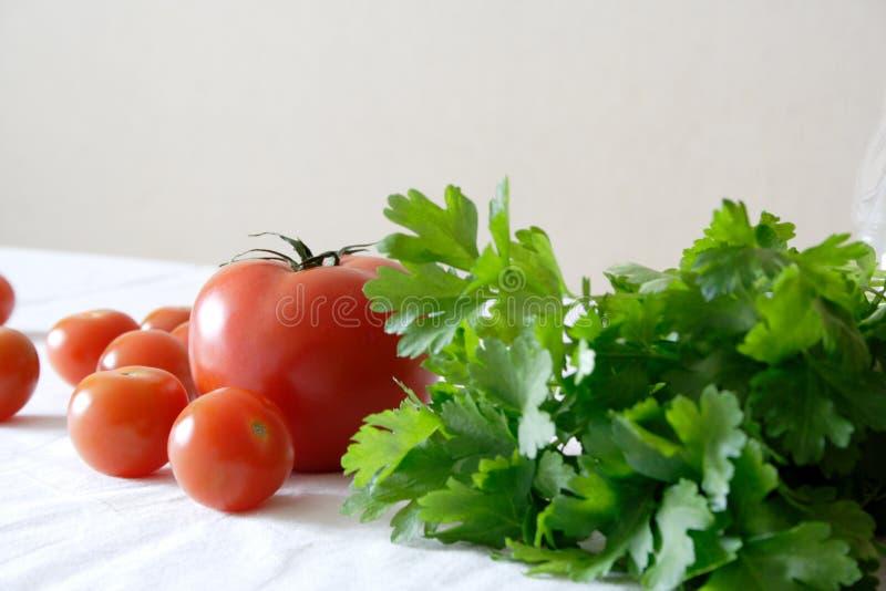 L'alimento ha impostato con i pomodori fotografia stock libera da diritti