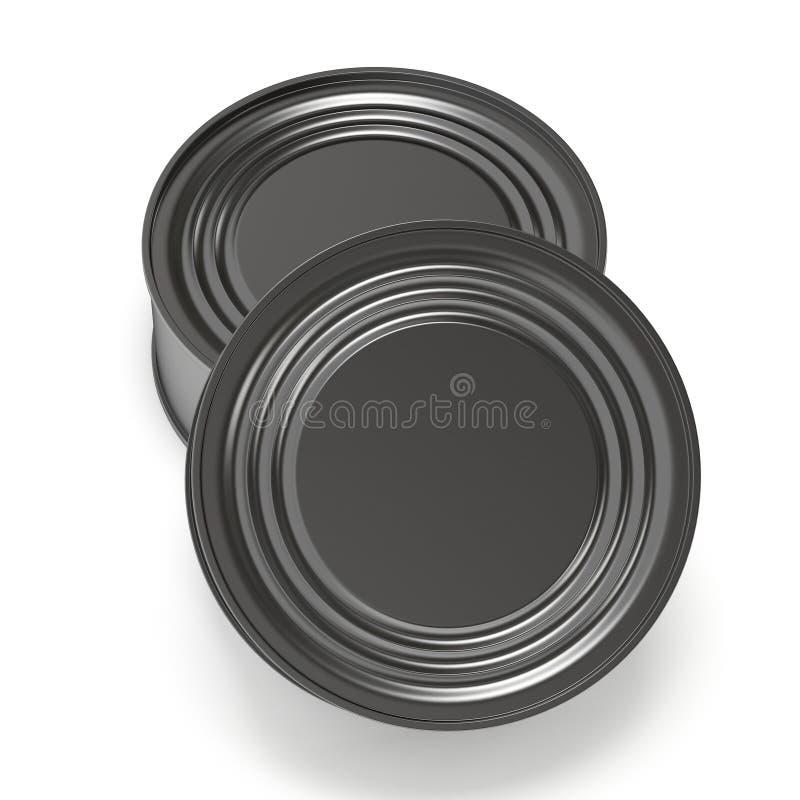 L'alimento inscatolato 3D rende illustrazione di stock