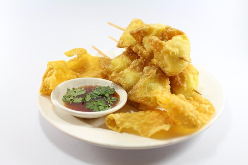 L'alimento tailandese fritto ha vinto la tonnellata fotografia stock