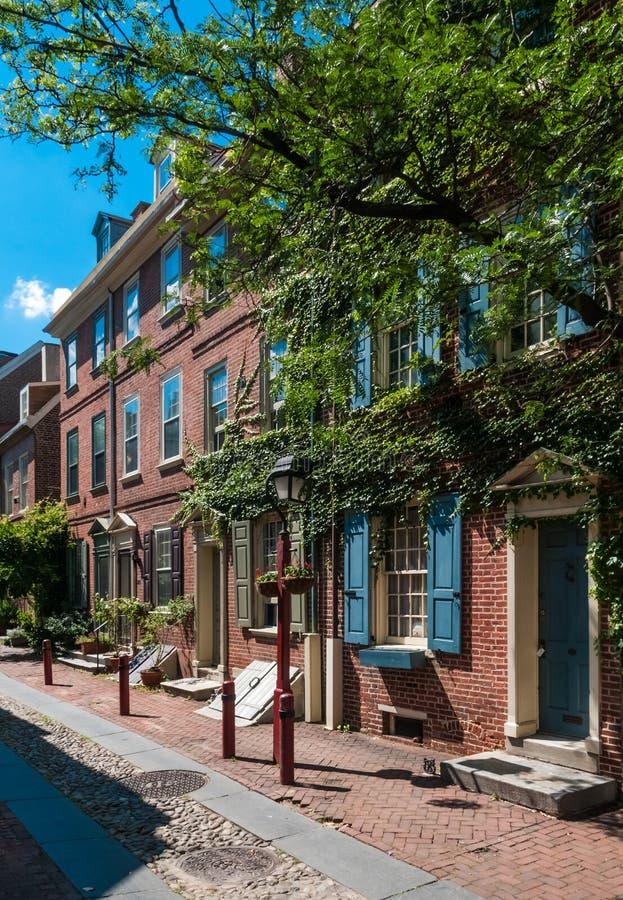 L'allée d'Elfreth, Philadelphie photographie stock