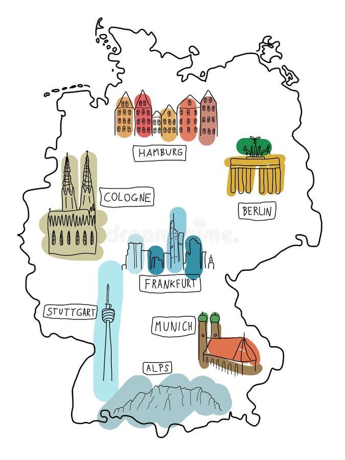 l'Allemagne illustration libre de droits