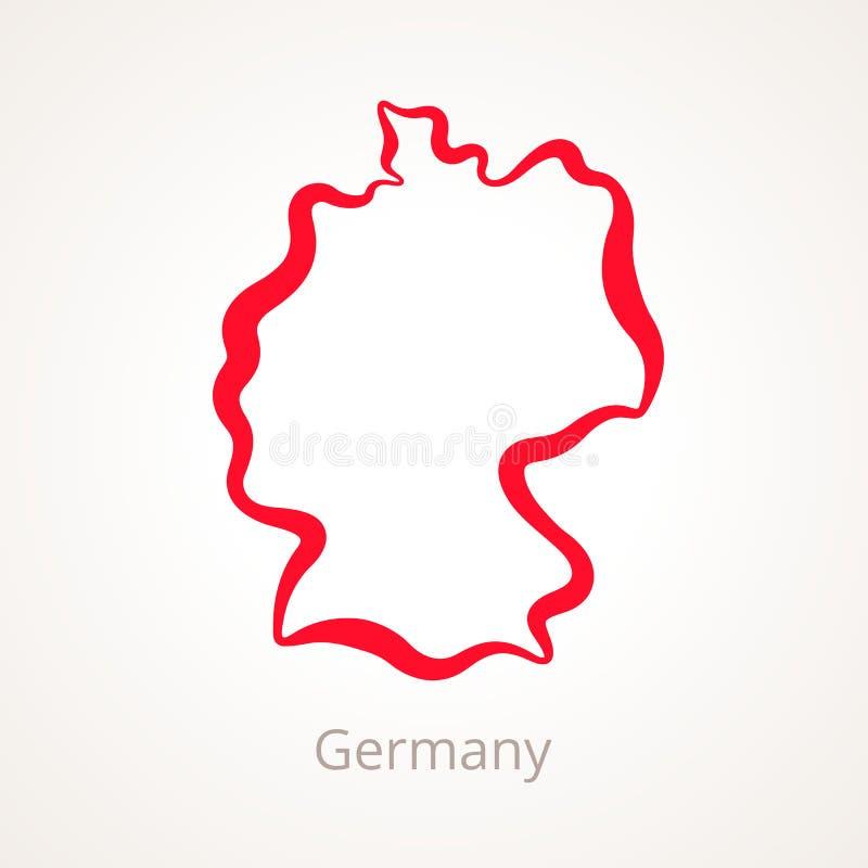 L'Allemagne - carte d'ensemble illustration libre de droits