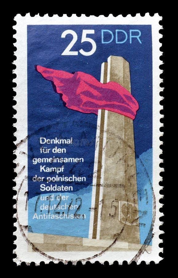 L'Allemagne de l'Est sur des timbres-poste image libre de droits