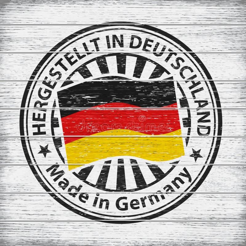 l'Allemagne a effectué Estampille sur le fond en bois illustration stock