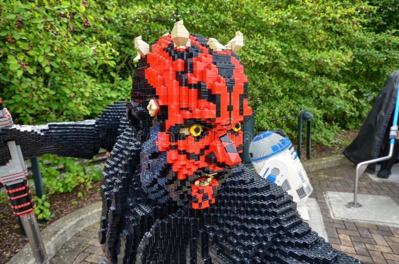 L'Allemagne, près du ` de Legoland de ` de parc d'Ichenhausen le 25 juin 2015 Lego image libre de droits