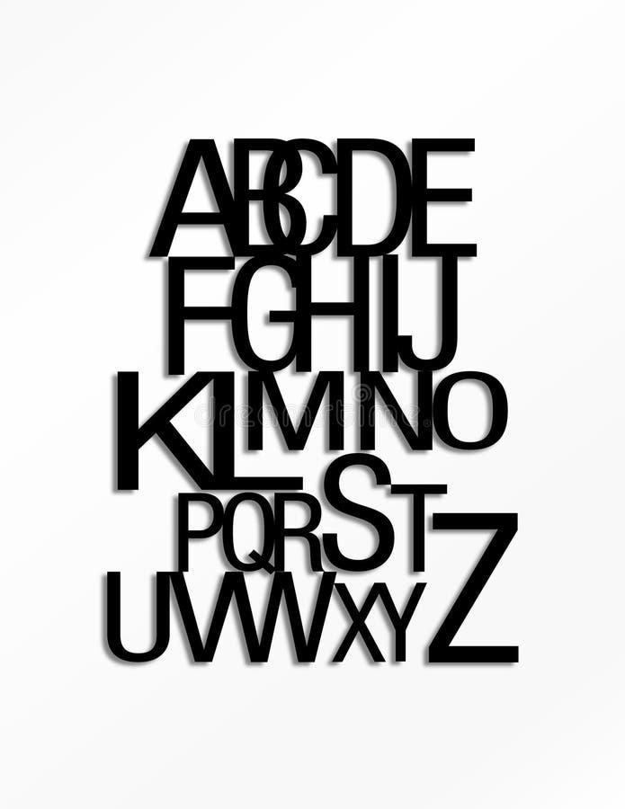 L'alphabet anglais moderne composé de 26 lettres photo libre de droits