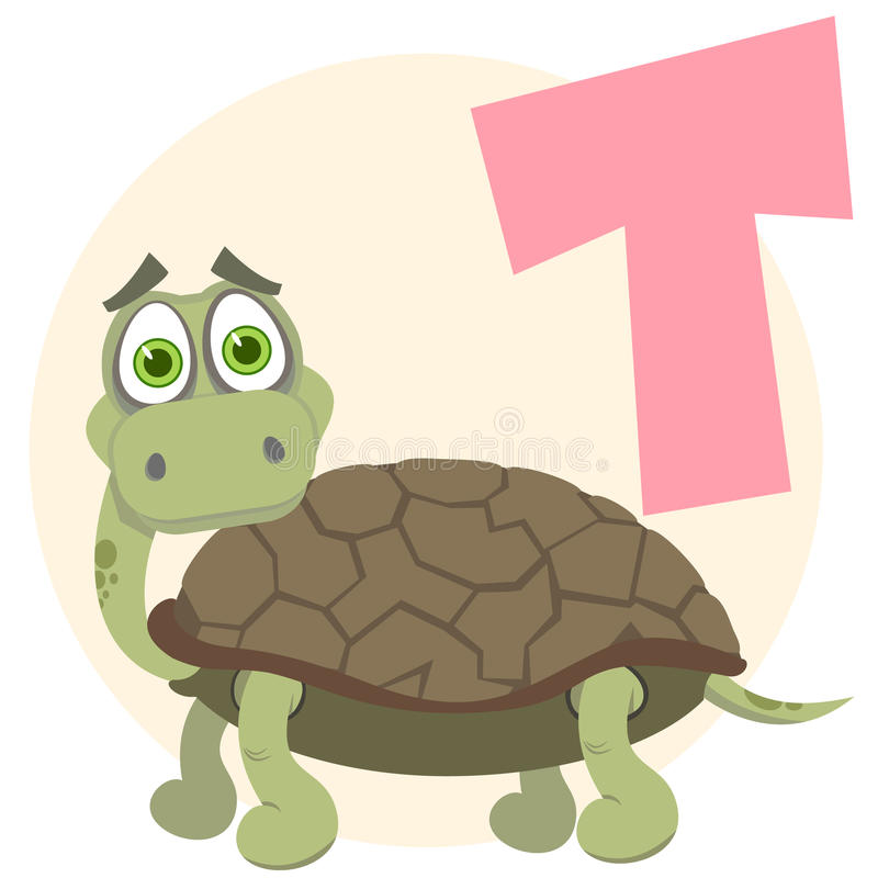 L'alphabet anglais. Tortue illustration stock