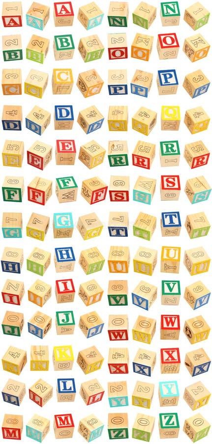 L'alphabet bloque A à Z images stock