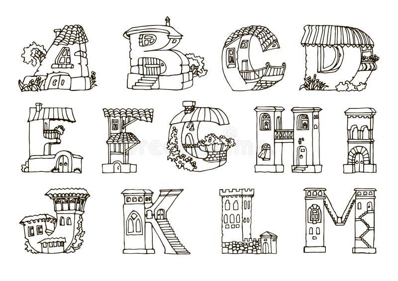 Souvent L'alphabet D'anglais, Lettres Dans Les Maisons Forment Les FO  RP25