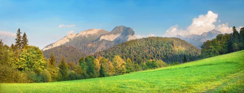 L'alta montagna di Tatras dal Nord con i picchi Muran e Novy alza fotografie stock
