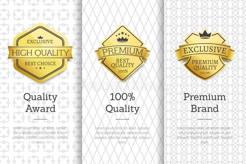 L'alta qualità esclusiva assegna l'insieme di marca premio royalty illustrazione gratis