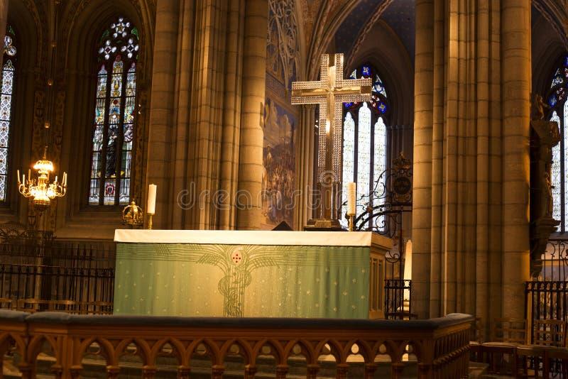 L'altar maggiore a domkykan immagini stock libere da diritti