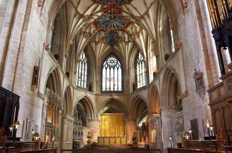 L'altare all'abbazia tewkesbury fotografia stock libera da diritti