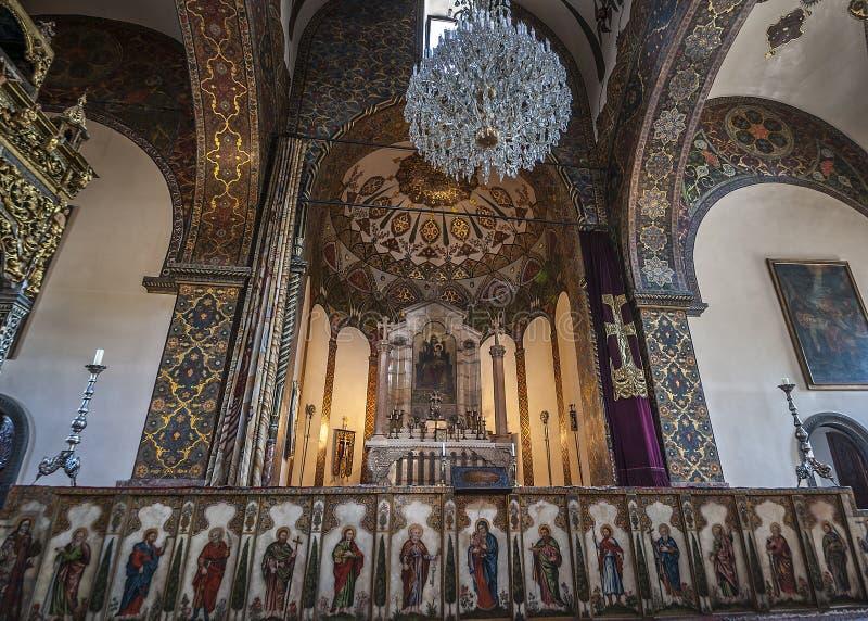 L'altare della cattedrale Etchmiadzin immagine stock libera da diritti