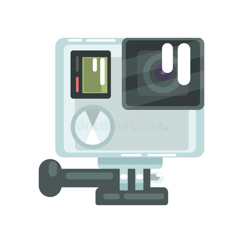 L'alto video della foto della definizione va pro azione della macchina fotografica Illustrazione variopinta di vettore del fumett illustrazione di stock