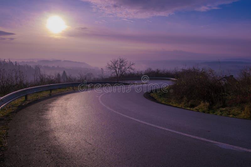 L'altopiano road fotografie stock libere da diritti