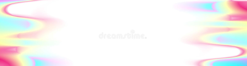 L'aluminium olographe chromatique ondule la bannière abstraite illustration libre de droits