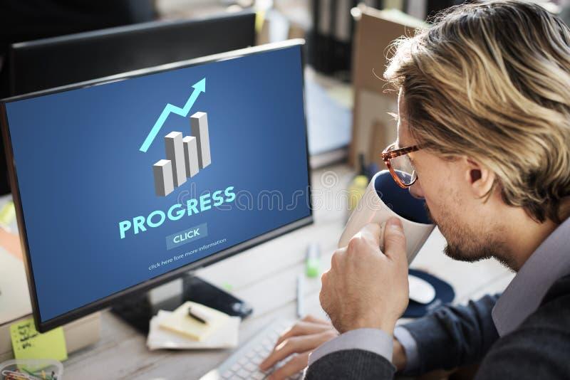 L'amélioration anticipée de croissance de progrès améliorent le concept images libres de droits