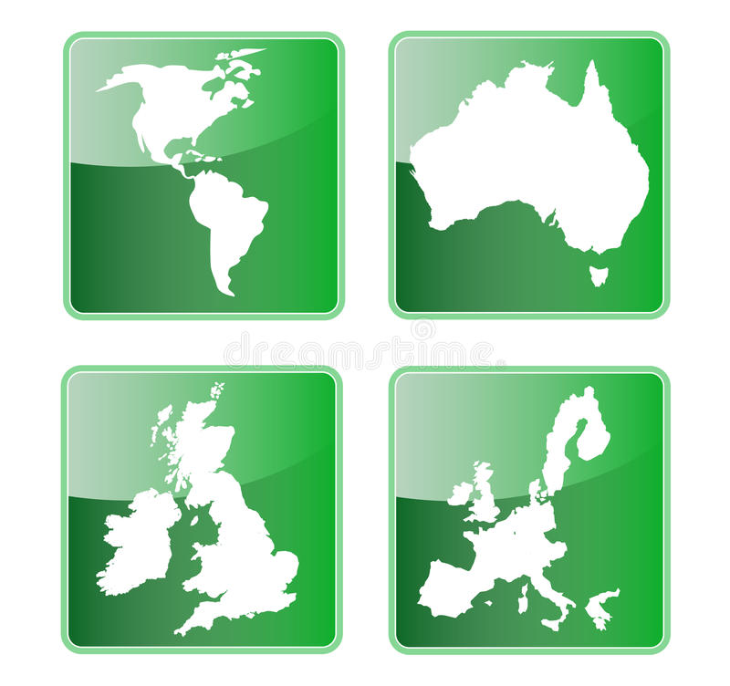 l'Amérique australie Grande-Bretagne l'Europe illustration stock