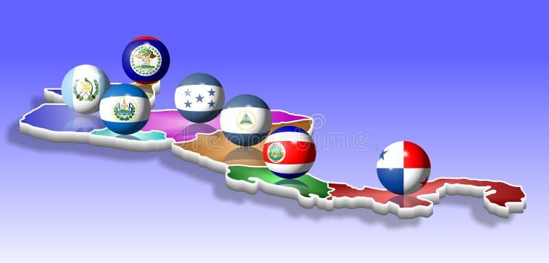 l'Amérique Centrale illustration libre de droits