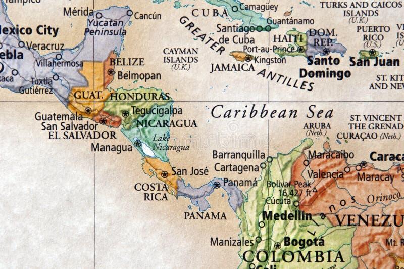 l'Amérique Centrale photo libre de droits