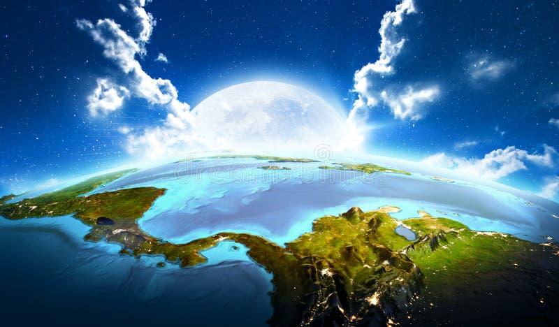 l'Amérique Centrale rendu 3d illustration libre de droits