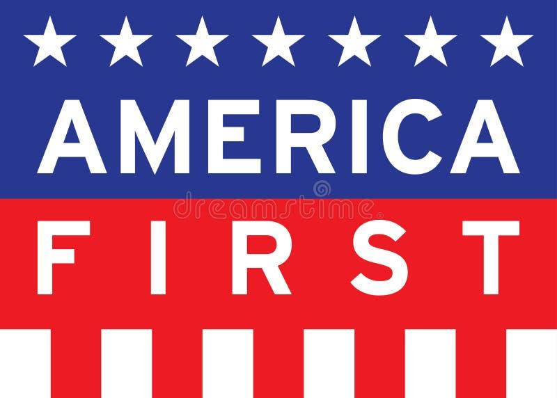 L'Amérique d'abord illustration de vecteur