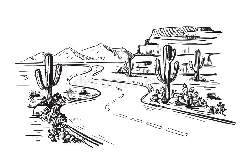 L'Amérique du Nord Arizona illustration de vecteur