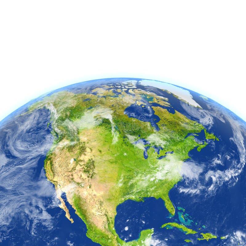 Download L'Amérique Du Nord Sur Terre De Planète Illustration Stock - Illustration du région, américain: 87700221