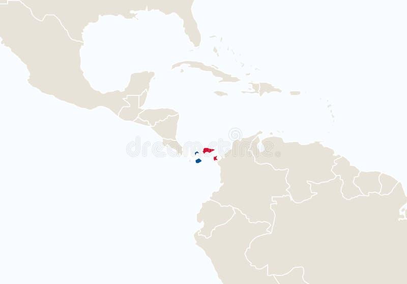 L'Amérique du Sud avec Saint-Vincent-et-les-Grenadines accentué illustration de vecteur