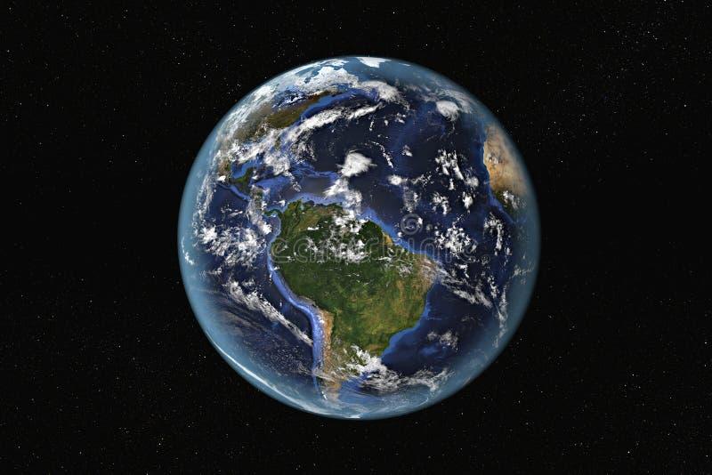L'Amérique du Sud et les Caraïbe de l'espace photo stock