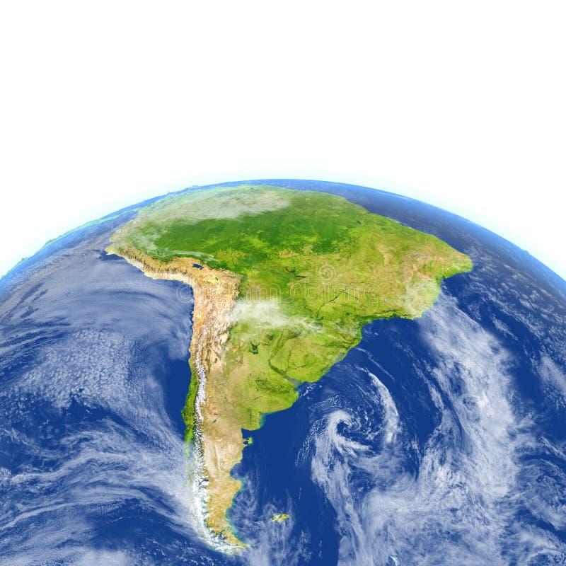 Download L'Amérique Du Sud Sur Terre De Planète Illustration Stock - Illustration du amérique, américain: 87700699