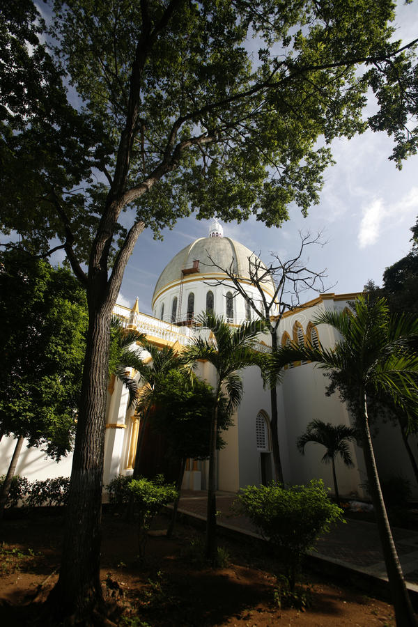 L'AMÉRIQUE DU SUD VENEZUELA ISLA MARGATITA PORLAMAR CATEDRAL image libre de droits
