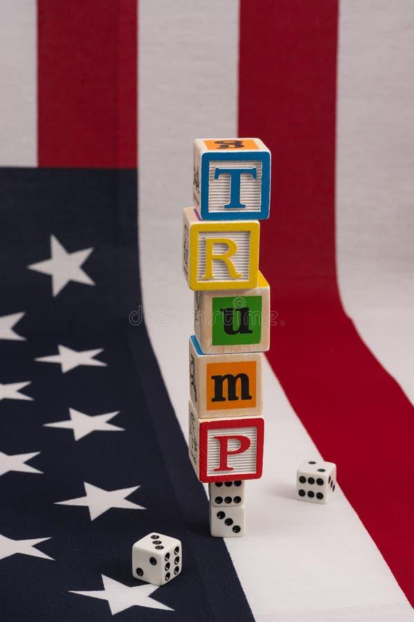 L'Amérique jouant est-elle sur l'atout ? image libre de droits