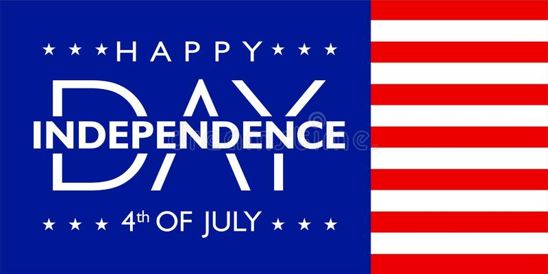 L'Amérique Jour de la Déclaration d'Indépendance 4 juillet avec la couleur de drapeau illustration de vecteur