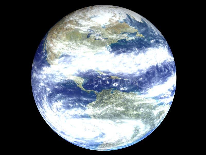 l'Amérique sur un globe de la terre illustration stock