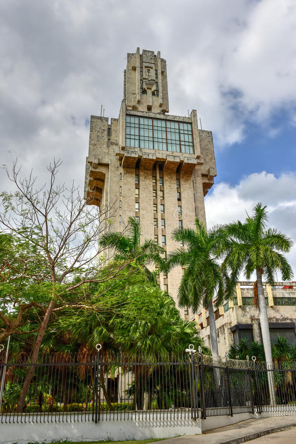 L'ambasciata della Russia a Avana, Cuba fotografia stock