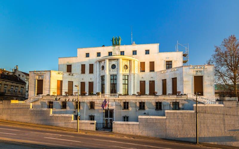 L'ambasciata francese in Serbia immagini stock
